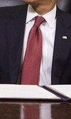 Neck of State: Tie worn by Barack Obama when closing Guantanamo, January 22, 2009
