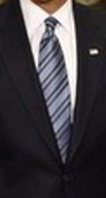 Neck of State: Necktie worn by Barrack Obama during his first presidential visit to the Pentagon.  28 January, 2009