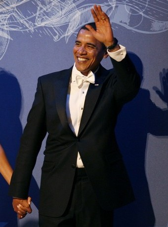 Barack Obama at the Commander in Chief Ball, January 20, 2009
