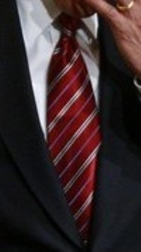 Neck of State: Necktie worn by Barrack Obama while signing the Middle Class Working Families executive order, and also in his second weekly address.  30 January, 2009