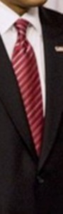 Neck of State: Necktie worn by Barack Obama when he appeared with Secretary of Energy Steven Chu to announce new energy standards for household appliances.  February 5, 2009.