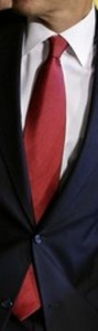 Neck of State: Necktie worn by Barack Obama while introducing his Economic Recovery Team.  February 6, 2009.