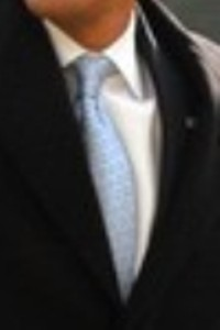 Neck of State: Tie worn by Barack Obama after returning from Valentine's weekend in Chicago, IL. February 16, 2009.