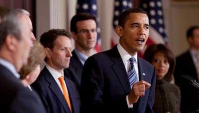 President Obama outlines the 2009 Federal Budget, February 26, 2009.  White House Photo / Pete Souza.