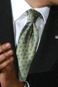 Neck of State: President Barack Obama's neck tie from Ted Kennedy's birthday bash. March 8, 2009.
