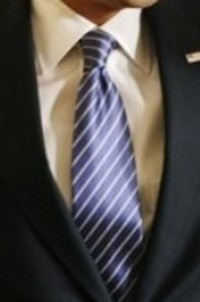 Neck of State: President Barack Obama's neck tie from when he signed the Executive Order on stem cells and a Presidential Memorandum on scientific integrity. March 9, 2009.