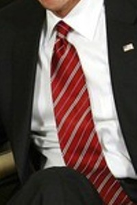 Neck of State: Barack Obama's neck tie during his meeting with Ban Ki-Moon. March 12, 2009.