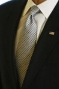 Neck of State: Classy neck tie worn by Barack Obama while signing an Executive Order creating the White House Council on Women and Girls. March 11, 2009.